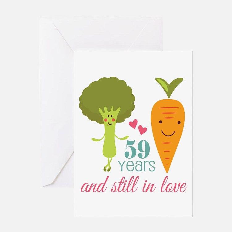 59 Year Anniversary Veggie Couple Greeting Card