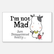 Disappointed Cow Rectangle Decal