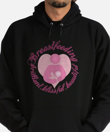 breastfeeding-brilliant-beautiful Hoodie (dark)