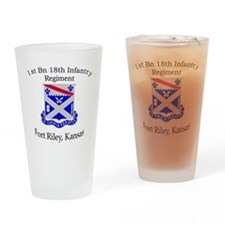 1st Bn 18th IN Drinking Glass