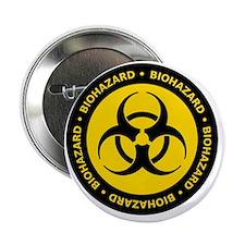 """biohazVectTxtCYellow 2.25"""" Button"""