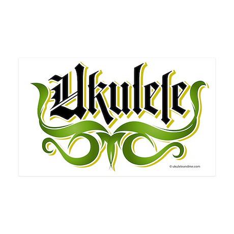 Ukulele-Gothic 35x21 Wall Decal