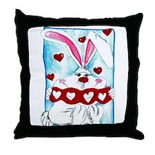 """""""Honey Bunny"""" Throw Pillow"""