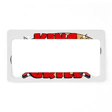 KingOfTheGrillDesign2 License Plate Holder