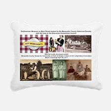 t shirt logo key ingredi Rectangular Canvas Pillow