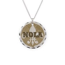 NOLA Necklace Circle Charm