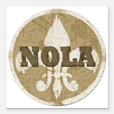 "NOLA Square Car Magnet 3"" x 3"""