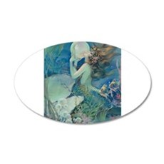 Art Deco Art Nouveau Mermaid With Pearl Pin Up Wal