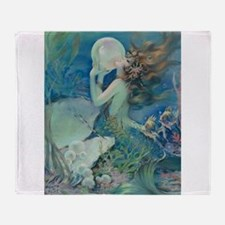 Art Deco Art Nouveau Mermaid With Pearl Pin Up Thr
