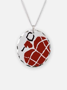 Heart Handgrenade Necklace