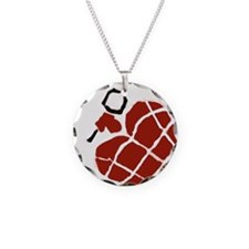Heart Handgrenade Necklace Circle Charm