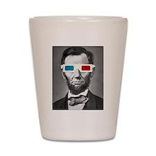 Abraham Lincoln 3D Glasses Altered Att Shot Glass