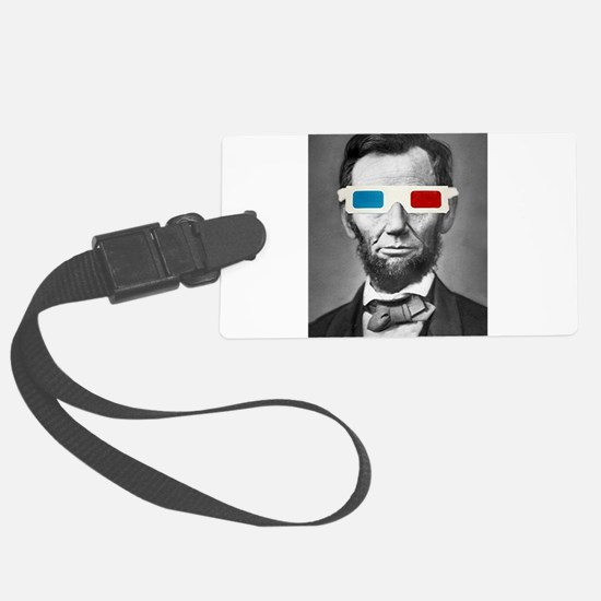 Abraham Lincoln 3D Glasses Altered Att Luggage Tag