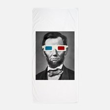 Abraham Lincoln 3D Glasses Altered Att Beach Towel