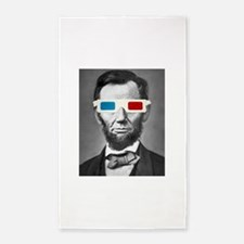 Abraham Lincoln 3D Glasses Altered Att 3'x5' Area