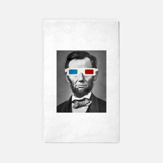 Abraham Lincoln 3D Glasses Altered Att 3'x5' Area
