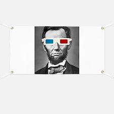 Abraham Lincoln 3D Glasses Altered Att Banner