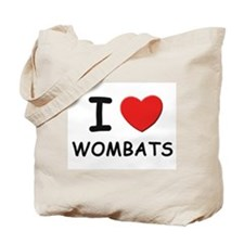I love wombats Tote Bag
