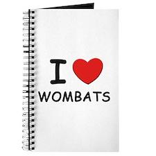 I love wombats Journal