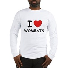 I love wombats Long Sleeve T-Shirt