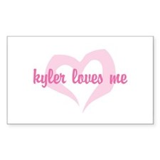 """kyler loves me"" Rectangle Decal"
