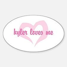 """""""kyler loves me"""" Oval Decal"""
