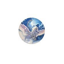 pegasus flying high Mini Button