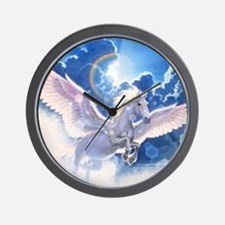 pegasus flying high Wall Clock