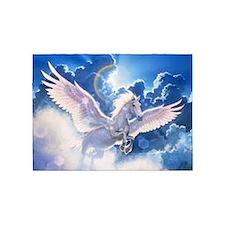 pegasus flying high 5'x7'Area Rug