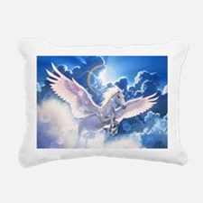 pegasus flying high Rectangular Canvas Pillow