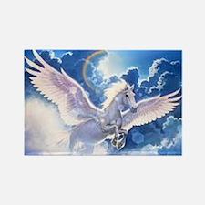 pegasus flying high Rectangle Magnet