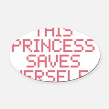 gamerprincess Oval Car Magnet