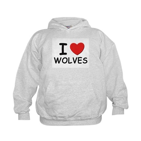 I love wolves Kids Hoodie
