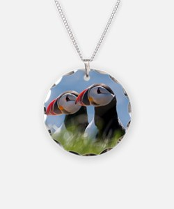 Puffin Pair 7.355x9.45 Necklace