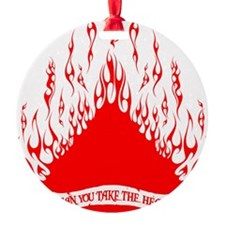 spade flames red Ornament