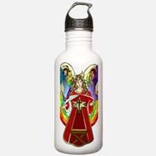 angel_nativity_color Water Bottle