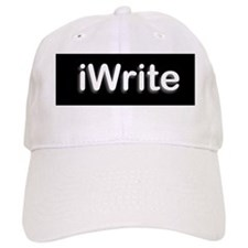 iWritetBlackPNG Baseball Cap