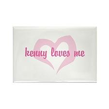 """kenny loves me"" Rectangle Magnet (10 pack)"