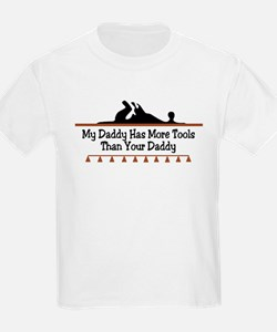 My daddy has more tools Kids T-Shirt
