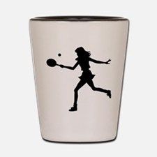 Tennis Lady.eps Shot Glass