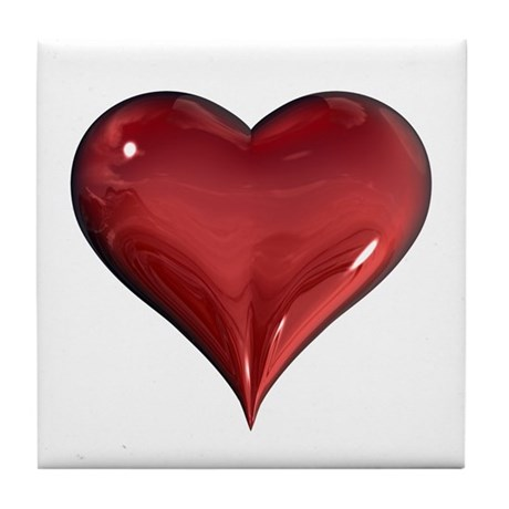 3d Heart Tile Coaster