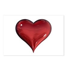 3d Heart Postcards (Package of 8)