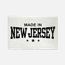 Made In New Jersey Rectangle Magnet