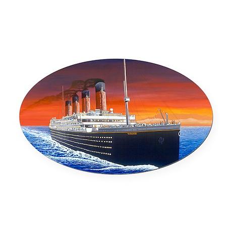 Titanic Oval Car Magnet