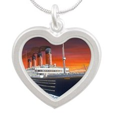 Titanic Silver Heart Necklace
