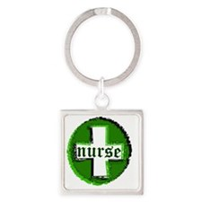 nurse_symbol_green Square Keychain