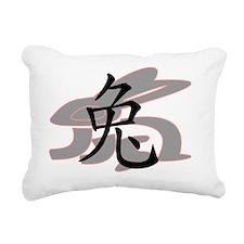 2011 year of the rabbit  Rectangular Canvas Pillow