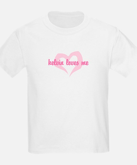 """kelvin loves me"" Kids T-Shirt"