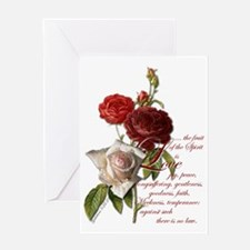 galatians 5 22 23 Greeting Card