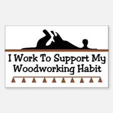 Work to support habit Rectangle Decal